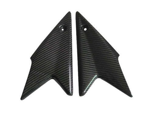 Glossy Twill Weave Carbon Fiber Side Panels for Triumph Speed Triple 1050 08-10