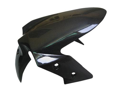 Glossy Plain Weave Carbon Fiber Front Fender for Kawasaki  Ninja 300, 250R, Z250  2013+