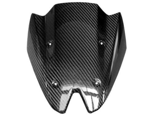 Glossy Twill Weave Carbon Fiber Windshield for Kawasaki Z 1000 2010-13