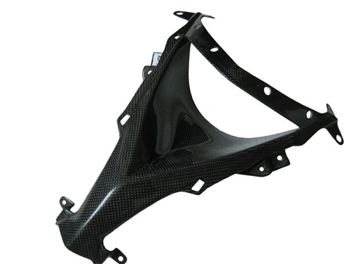 Glossy Plain Weave Carbon Fiber Nose Piece for Kawasaki ZX10R 08-09
