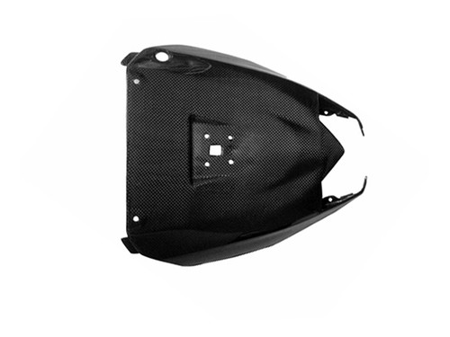 Glossy Plain Weave Carbon Fiber  Under Seat Cover for Kawasaki ZX10R 08-09