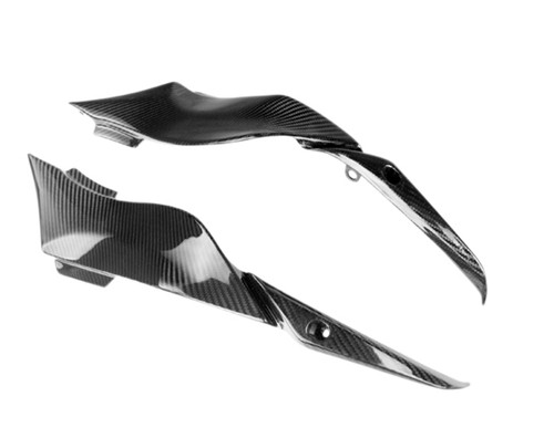 Under Tank Covers in Glossy Twill Weave Carbon Fiber for Kawasaki ZX6R 636 09-12