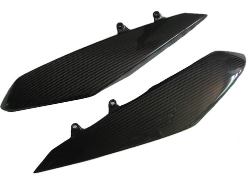 Glossy Twill Weave Carbon Fiber Under Tank Covers for Kawasaki Z 1000 2010-13