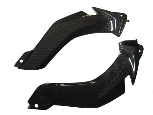 Glossy Plain Weave Carbon Fiber Airtake Covers for Kawasaki ZX10R 2011-2015