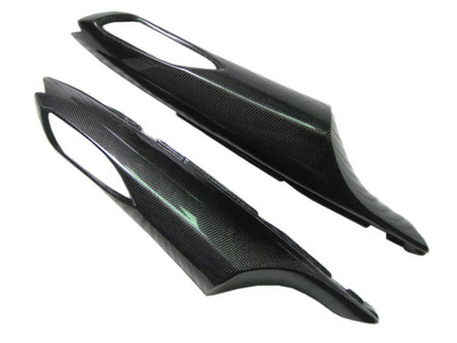 Glossy Plain Weave Carbon Fiber Side Tail Fairings for Kawasaki ZX14/ZZR1400 06-11
