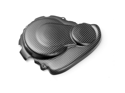 Clutch Cover Guard in Matte Twill Weave Carbon Fiber for Suzuki GSXR 750 08-10, GSXR 600 08-10