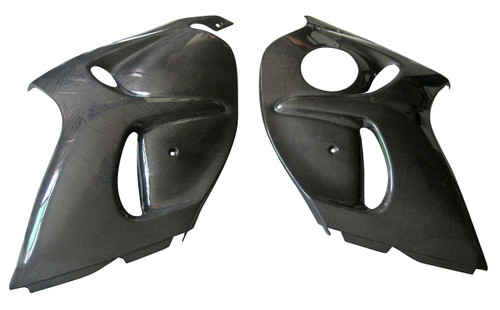Side Panels in Glossy Plain Weave Carbon Fiber for Suzuki GSX1300 R  Hayabusa 2008-2019