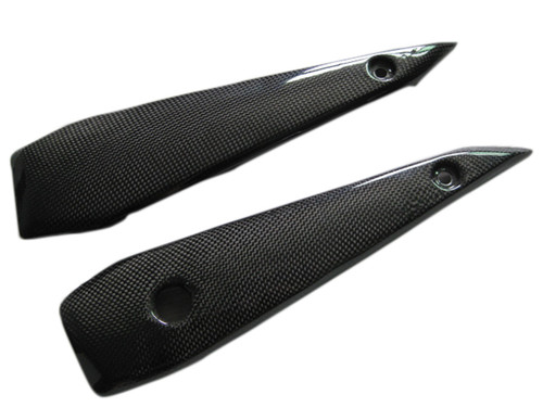 Glossy Plain Weave Carbon Fiber Side Cover for Yamaha FZ1 06 - 12 (naked bike)