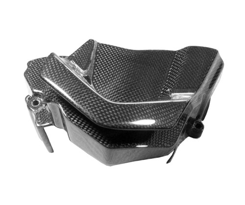 Front Sprocket Cover in Glossy Plain Weave Carbon Fiber for Yamaha FZ1 06 - 12