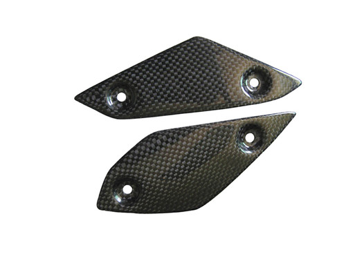 Heel Guards in Glossy Plain Weave Carbon Fiber for Yamaha FZ1 06 - 12