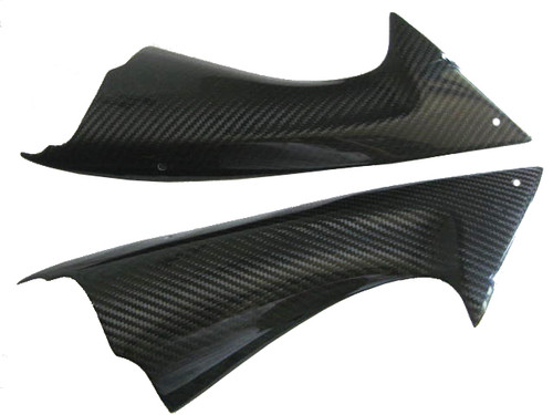 Glossy Twill Weave Carbon Fiber Air Intakes for Yamaha R6 08-16
