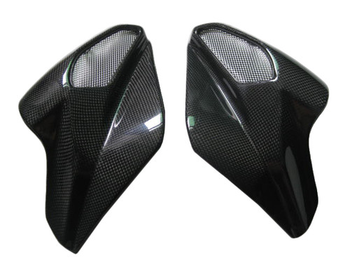 Airtake Covers for MV Agusta Brutale 2004-2009 in Glossy Plain Weave Carbon Fiber