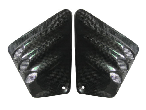 Glossy Plain Weave Carbon Fiber Vented Side Covers for Harley-Davidson V-Rod VRSC A-B-R-D-SE
