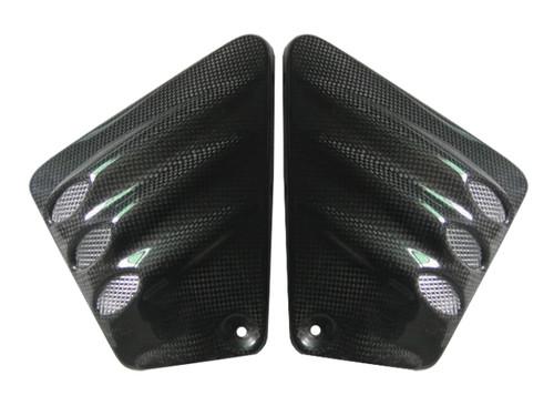 Glossy Plain Weave Carbon Fiber Vented Side Covers for Harley-Davidson V-Rod VRSC A-B-R-D-SE