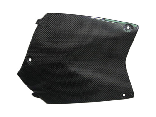 Upper Tank Cover for BMW K1200R, K1300R in Glossy Plain Weave Carbon Fiber