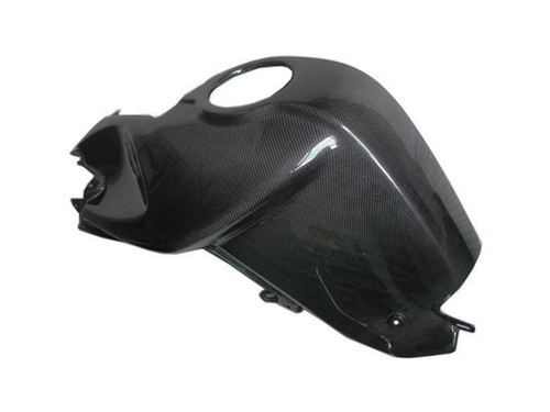 Left Side Tank Cover for BMW K1200R, K1300R in Glossy Plain Weave Carbon Fiber