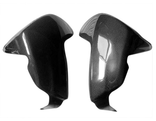 Valve covers for BMW R1200GS,R,RT,S & ADVENTURE 04-12 in Glossy Plain Weave Carbon Fiber