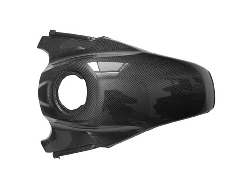 Tank Cover in Glossy Plain Weave Carbon Fiber for BMW R1200GS 08-12