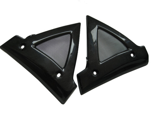 Glossy Plain Weave Carbon Fiber Radiator Frame Guard for Suzuki B-King 07-12