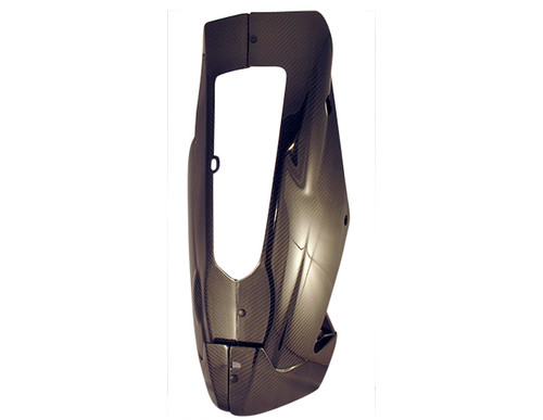 Belly Pan (with heat foil) and Pullers in Glossy Twill Weave Carbon Fiber for Aprilia RSV4 2009+