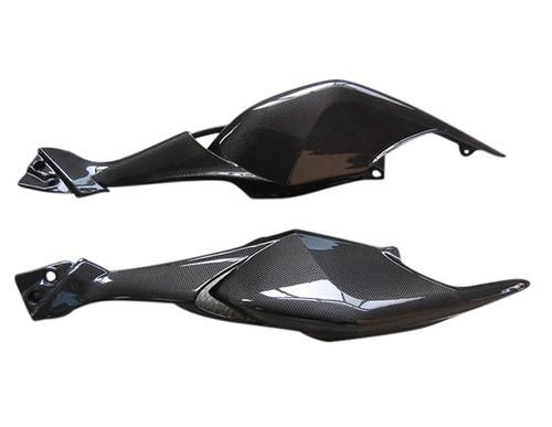Tail Fairings in Glossy Plain Weave Carbon Fiber for MV Agusta Brutale 990R,1090RR
