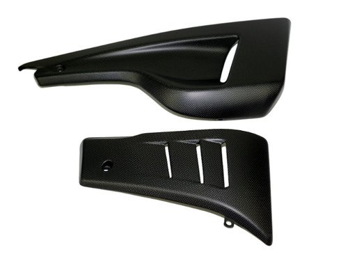 Belly Pan for Ducati Diavel in Glossy Plain Weave Carbon Fiber 2011-2018