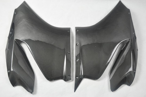 Glossy Twill Weave Carbon Fiber Side Panels for Ducati Panigale 899, 1199 2012+