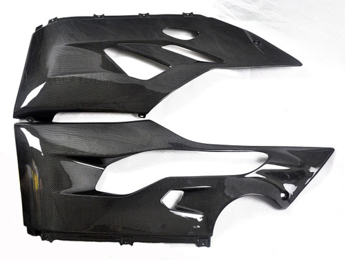Glossy Plain Weave Carbon Fiber Belly Pan for Ducati Panigale 899, 1199