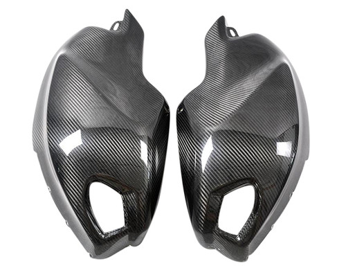 Glossy Twill Weave Carbon Fiber Tank Side Panels for Ducati Monster 696 / 796 / 1100 / EVO
