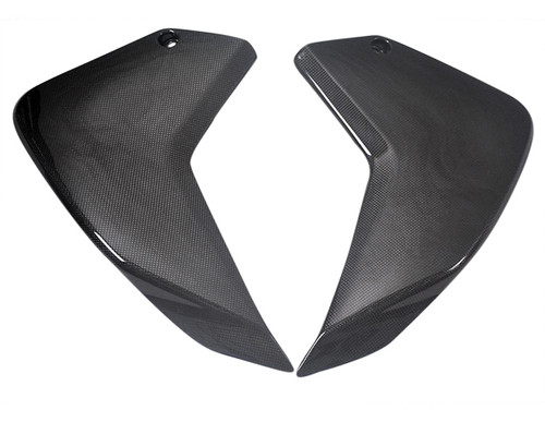 Side Panels for Ducati Multistrada 1200 in Glossy Plain Weave Carbon Fiber