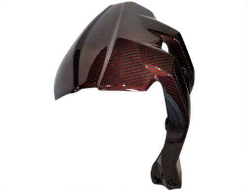 Glossy Red & BlackTwill Weave Wheel Cover for Ducati Multistrada 1200