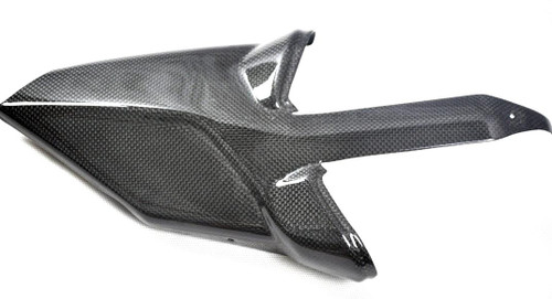 Exhaust Cover for Ducati Multistrada 1200 in Glossy Plain Weave Carbon Fiber