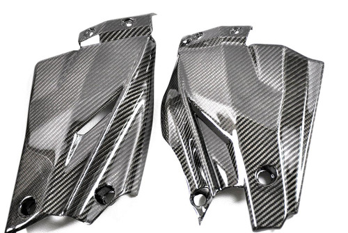 Glossy Twill Weave Carbon Fiber Bottom Side Panels for Ducati Streetfighter