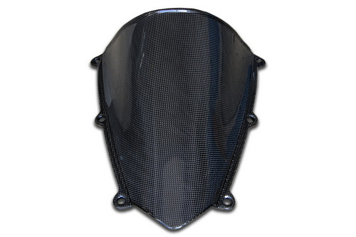 Windscreen in Glossy  Plain  Weave Carbon Fiber for Honda CBR 600RR 07-12