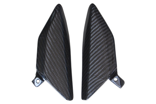 Side Panels(d) in Glossy Twill Weave Carbon with Fiberglass for Honda CBR 600RR 07-12