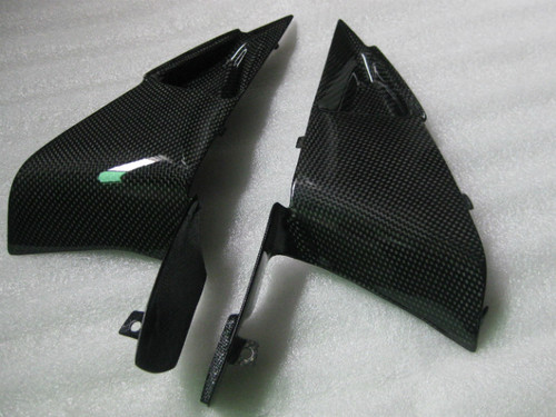 Side Panels Triangular Inserts in Glossy Plain Weave Carbon Fiber for Honda CBR 600RR 07-12