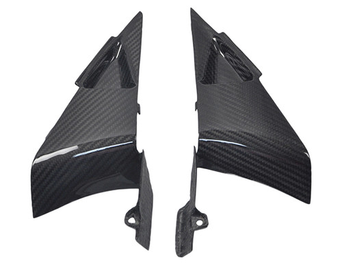 Side Panels Triangular Inserts in Glossy Twill Weave Carbon Fiber for Honda CBR 600RR 07-12
