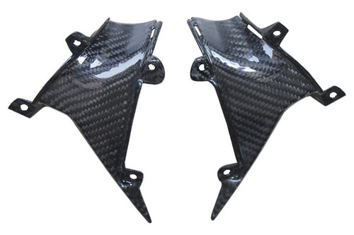 Side Panels(g) in Glossy Twill Weave Carbon with Fiberglass for Honda CBR 600RR 07-12