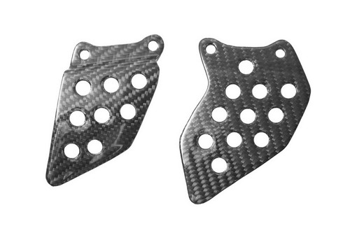 Heel Plates in Glossy Twill Weave Carbon with Fiberglass for Honda CBR 600RR 03-16