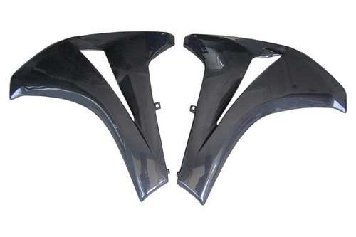 Side Panels in Glossy Plain Weave Carbon with Fiberglass for Honda CBR 1000RR 08-11