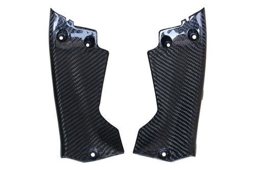 Dash Infill Side Panels in Glossy Twill Weave Carbon with Fiberglass for Honda CBR 1000RR 08-11