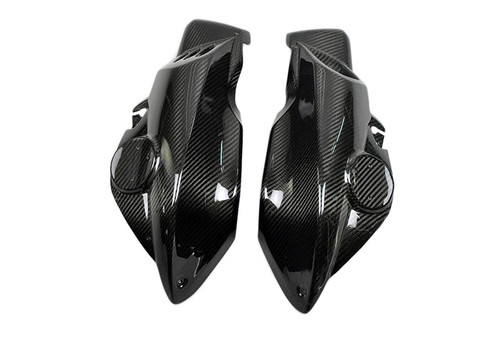 Air Intake Covers in Glossy Twill Weave Carbon Fiber for BMW K1200R