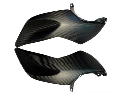 Side Covers for BMW K1200R in Matte Twill Weave Carbon Fiber