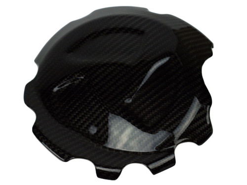Clutch Cover in Glossy Twill Weave Carbon Fiber for BMW S1000RR, S1000R, S1000XR