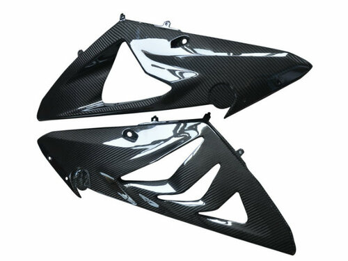 Side Panels in Glossy Twill Weave Carbon Fiber for BMW S1000RR BMW S1000RR 2012-2014