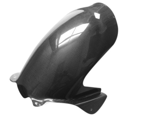 Rear Hugger for Ducati 749 03-06, 999 03-04 in Glossy Plain Weave Carbon Fiber
