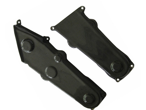 Glossy Plain Weave Carbon Fiber Belt Covers for Ducati Monster M600, M750, M900