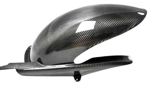 Rear Hugger in Glossy Twill Weave Carbon Fiber for Ducati Monster M900 2002+