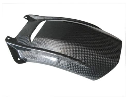 Glossy Plain Weave Carbon Fiber Rear Hugger for Aprilia RSV Mille 98-03, Tuono 02-05