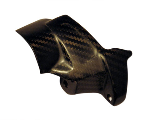 Brake Fluid Tank Cover for Aprilia Tuono V4 2011-2014 in Matte Twill Weave Carbon Fiber